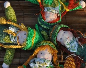 FREE SHIPPING!  Waldorf inspired elf -girl