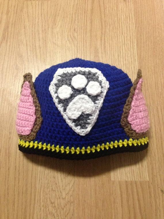 Crochet Hat Pattern Paw Patrol : Paw Patrol Chase Crochet Hat