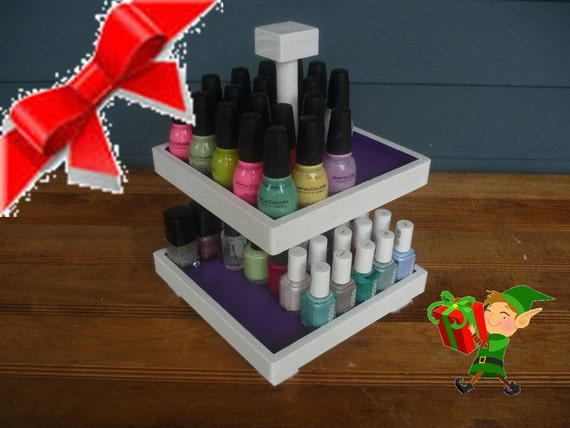 Nail Polish 2 Tier Table Top Organizer (50 bottles) COLOR BLOCK