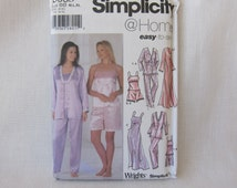 Night Gown Sewing Pattern. Simplicity 5933. Size:M,L,XL. Night Time Lingerie Sewing Pattern. Easy to SewFactory Folded