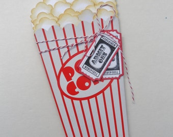 Popcorn Gift Card Holder - Movie Gift Card Holder - Theatre Gift Card Holder - Gift Card Holder
