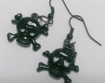 Black skeleton earrings