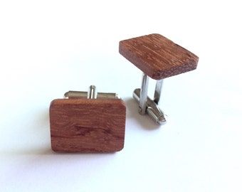 NEW CUFF LINKS!! Wooden cuff links made from upcyled guitar wood. Get 'em while you can!