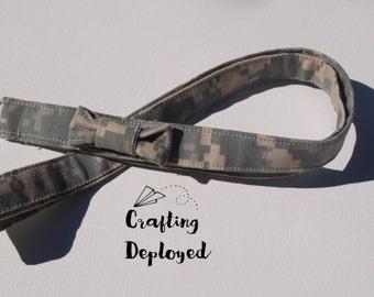 Army ACU skinny lanyard with bow