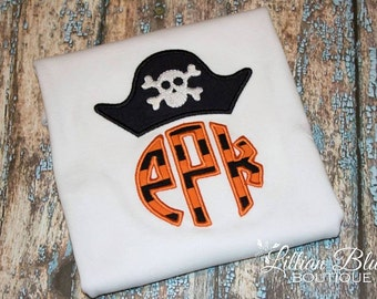 Pirate Monogram boys shirt/onesie
