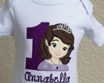 Sofia the First birthday shirt with name