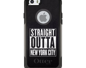 OtterBox Commuter for Apple iPhone 5S SE 5C 6 6S 7 8 PLUS X 10 - Custom Monogram - Any Colors - Straight Outta New York City