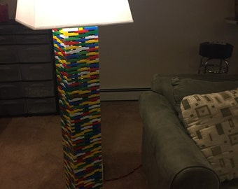 LEGO® Lamp - XXXL Multicolor Rainbow Floor Lamp with LED Lighting Effects! Free Shipping!