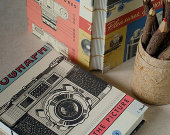 Vintage Camera Notebook Sketchbook or Journal // Coptic