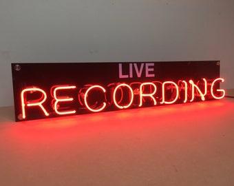 Live RECORDING Neon Light Sign