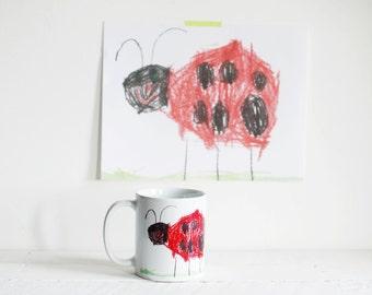 Mug personnalisé avec dessin - mug personnalisé pour enfant - cadeau bien pensé votre enfant pour un grand-parent - tasse à café Unique personnalisé