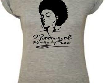 Natural Kinky & Free - Natural hair shirt