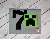 Minecraft personalized birthday shirt