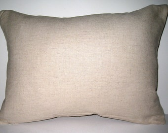 Lumbar Pillow Cover, 13X18 Pillow Cover, Natural linen pillow cover, Invisible zipper closure pillow cover