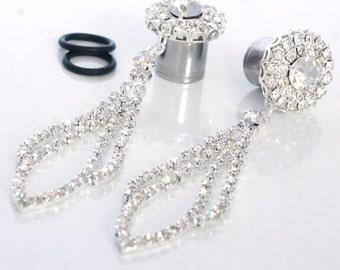 "Wedding Dangle 00g 7/16"" 1/2"" 9/16"" 5/8""  Plugs Gauges 10mm 12mm 14mm 16mm 8g 6g 4g 2g 0g"