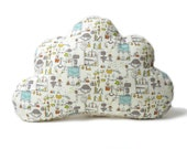 Fluffy CLOUD pillow, cushion made from organic cotton and organic plush, for boys