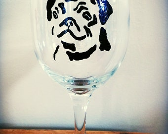The Perfect Pug/Bulldog Wine Glass