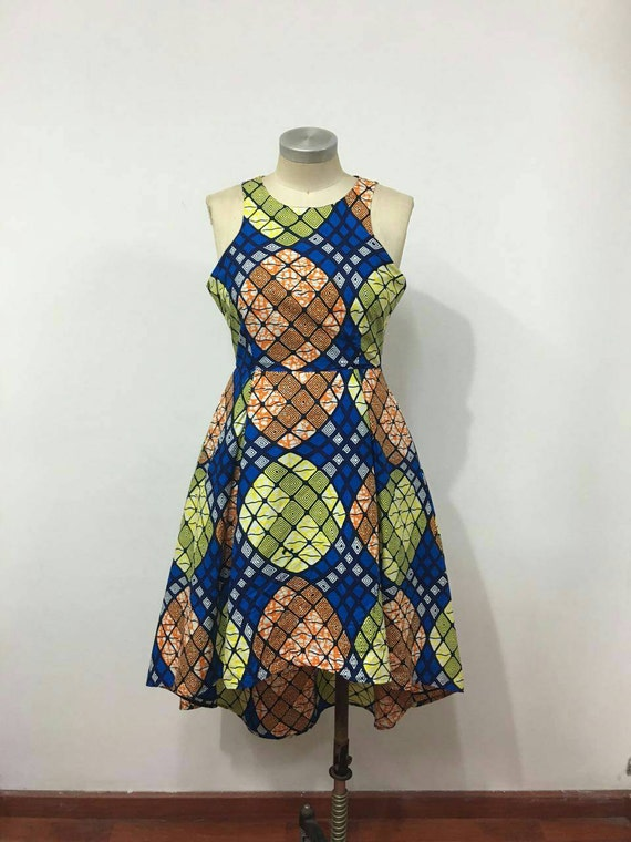Kitty African Print High- Low dress