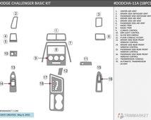 Dodge Challenger 2011 2012 2013 2014 New Basic Interior Set Wood Carbon Aluminum Dash Trim Kit 18 Pcs