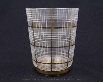 Bohemian gilded & enamelled glass vase