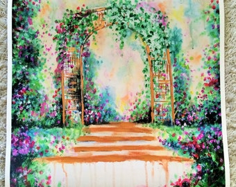 ART PRINT 'Archway Blossom'