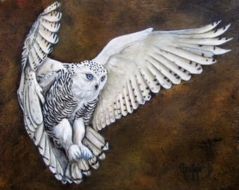 Snowy Owl In Flight -Limited Edition Prints- WILLOW