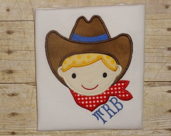 cowboy shirt for boys embroidered rodeo top boys birthday cowboy hat shirt lasso shirt boys rodeo shirt toddler baby