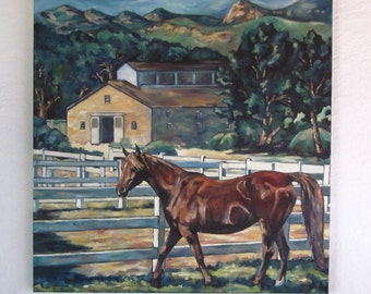 Equine Art Oil Painting Saphyre