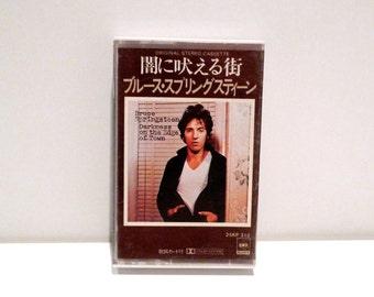 Bruce Springsteen Cassette Tape Paper Labels Vintage Darkness on the Edge of Town 70s E Street Band Clemons Japanese Import Badlands Streets