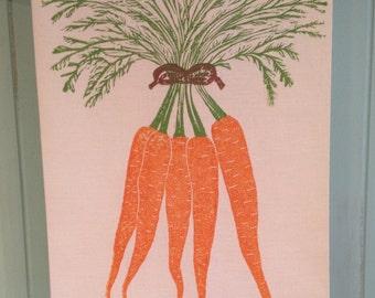 Block Printed Carrots