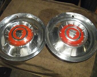 1955 Mercury Hubcaps Pair