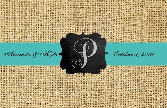 Burlap Look Paper Placemats Premium, Rehearsal Dinner Placemats, Presonalized Placemats, Monogrammed Placemats, Wedding Decorations