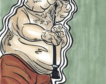 Droopy McCool original illustration