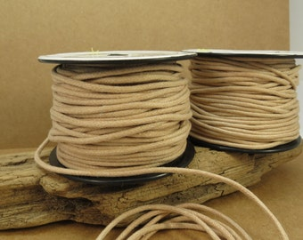Natural Waxed Cotton Cord, 2mm Cotton Cord, 25 Meters Natural Cord, Cotton Necklace Cord, Item 710c