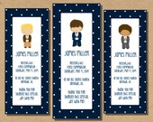 Boy First Communion Printable Bookmark 1st Communion Favor Thank You Communion Bookmark Digital File