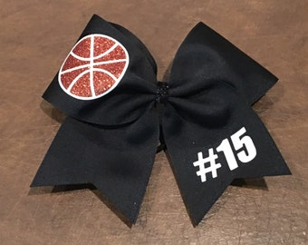 Cheer Bow - Basketball Bow ALL COLORS can be changed--also have soccer, volleyball, softball