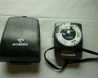 Gossen N100 Exposure Meter With  Leather Case & Neckstrap.  (Made in Germany)