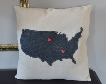 USA Custom Pillow Cover! 18 x 18 removable cover. Free Shipping!!