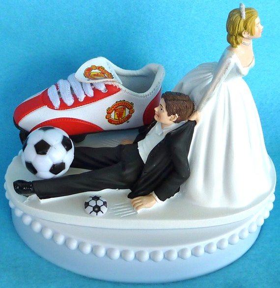 soccer player wedding cake toppers wedding cake topper manchester united u soccer themed w 20273