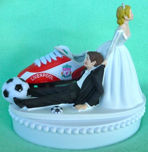 football themed wedding cakes wedding cake topper liverpool f c football club soccer themed 14394