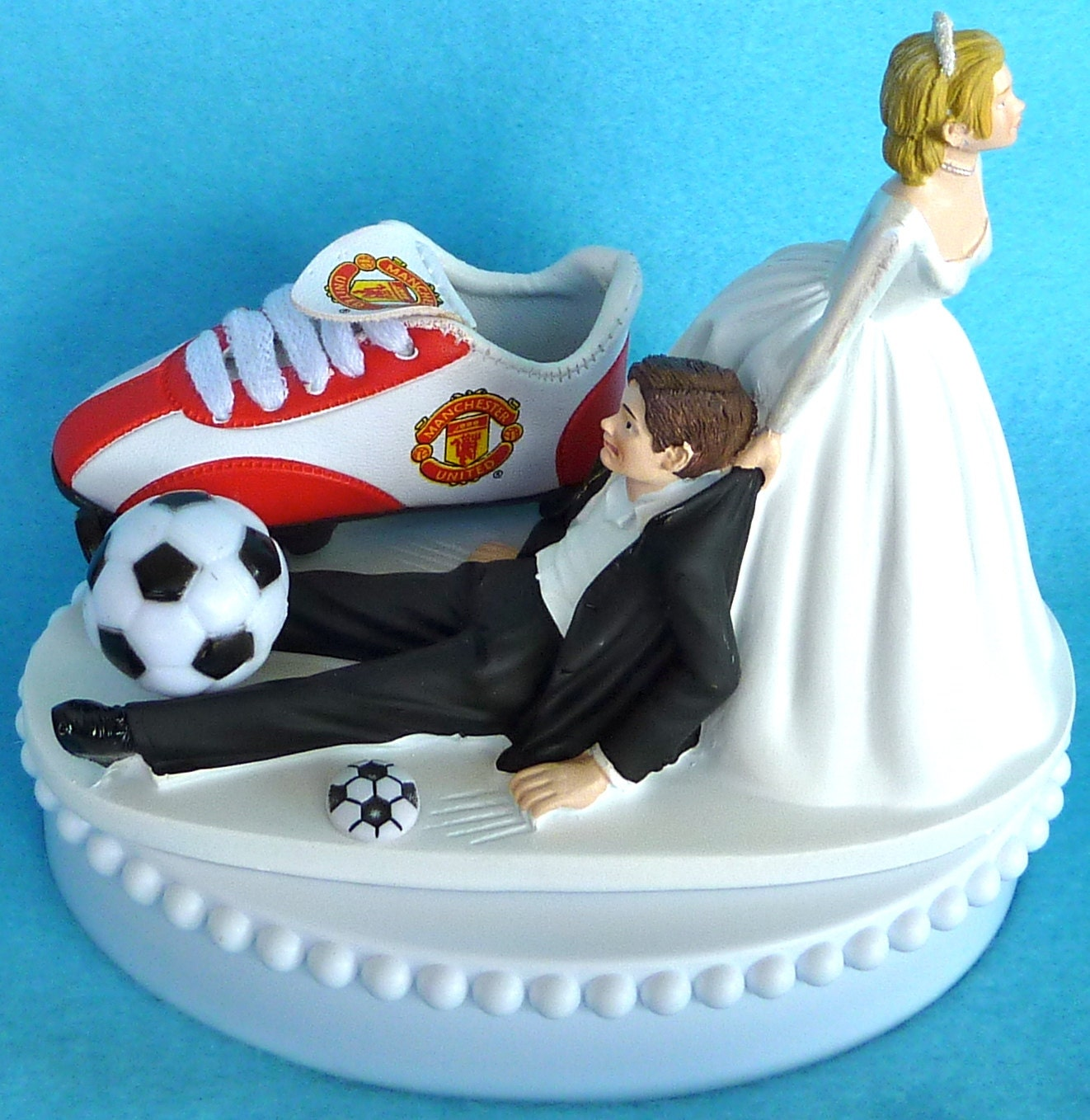 wedding cake toppers soccer wedding cake topper manchester united u soccer themed w 8839