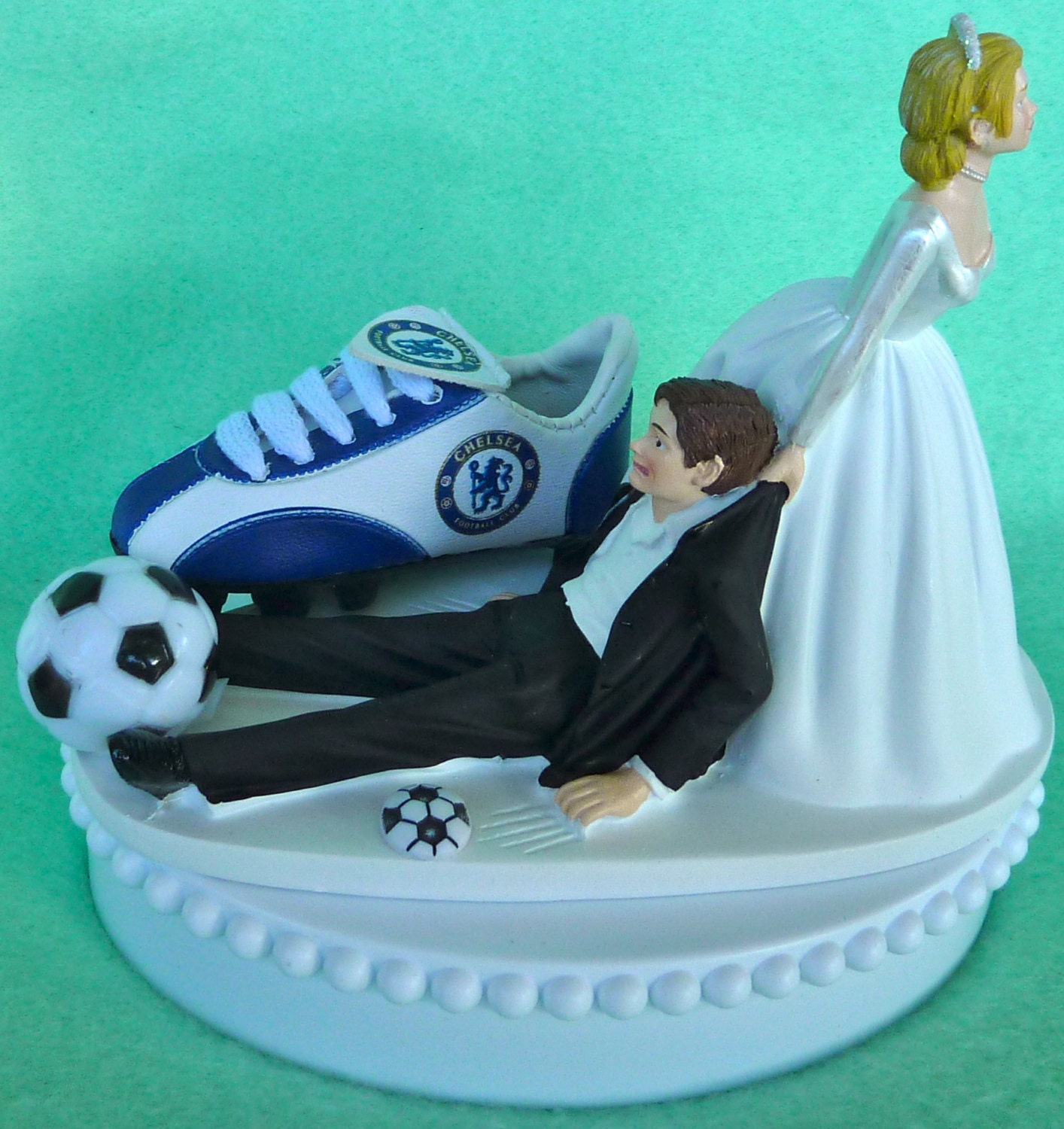 football themed wedding cakes wedding cake topper chelsea football club fc soccer themed 14394