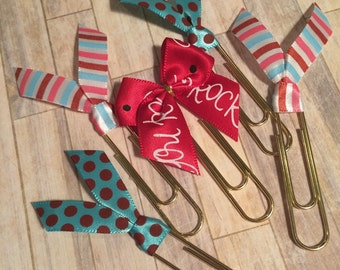 Set of 5 You Rock Planner Clips / Bookmarks