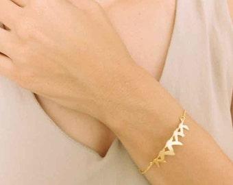 Dainty Gold Birds Bracelet, Gold Bracelet, Bird Bracelet, Layered Bracelet, Dainty Bracelet, Gold Plated Bracelet