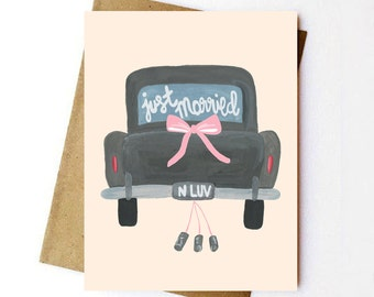 Just Married - Wedding Card - Greeting Card