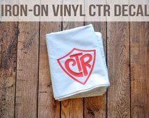 Iron on CTR Decals: Pack of 8