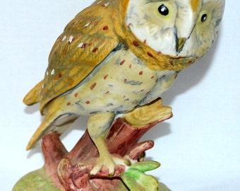 SALE - Vintage Ceramic Owl Figurine