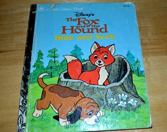 """Vintage Little Golden  Disney's """" The Fox and the Hound Hide And Seek"""""""
