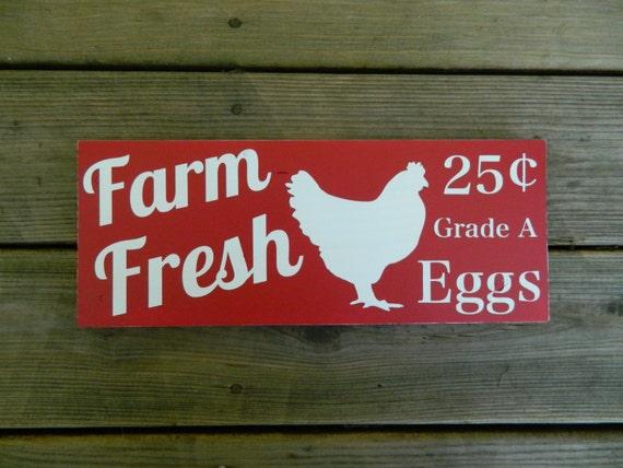 Wood kitchen sign rustic farm decor 5 1 2 quot x 14 quot farm fresh eggs
