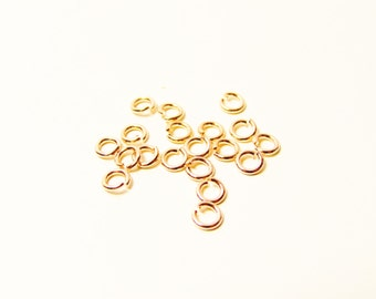D-03359 - 20 Jump rings rose gold color 4mm